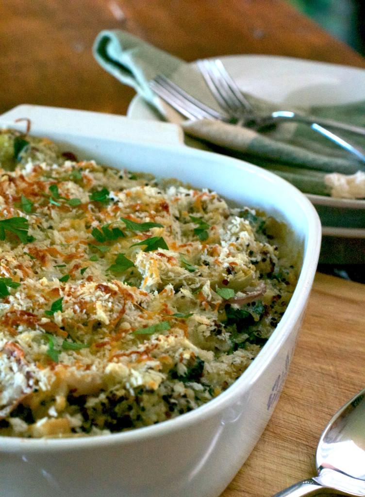 Spinach Artichoke Quinoa Casserole 6