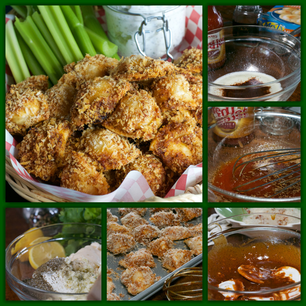 Crunchy Buffalo Pierogies Collage