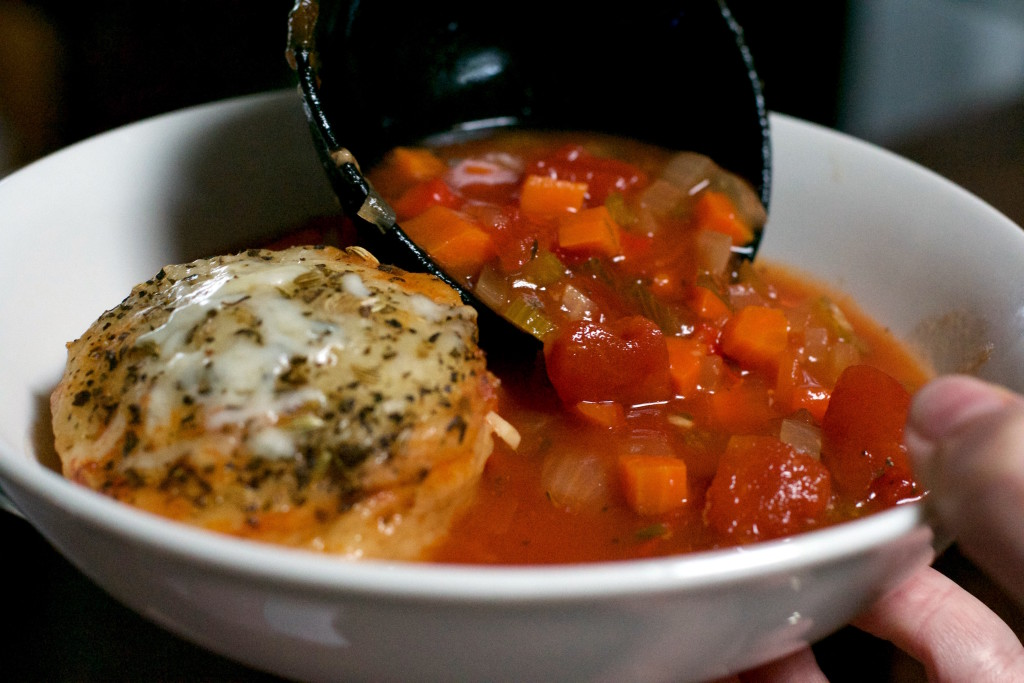 French Bread Tomato Soup 3