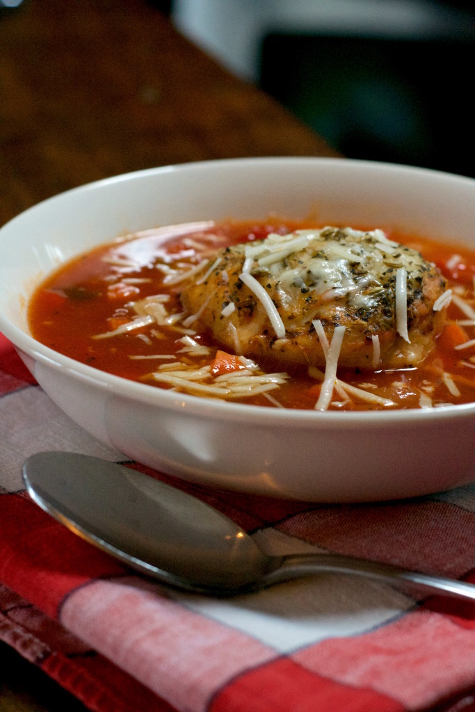 French Bread Tomato Soup 4