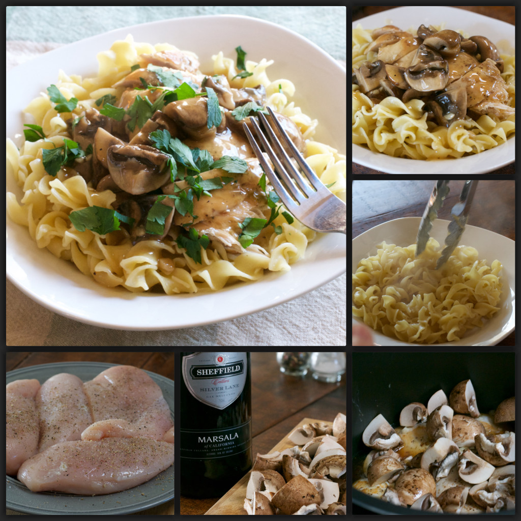 Pressure Cooker Chicken Marsala Collage