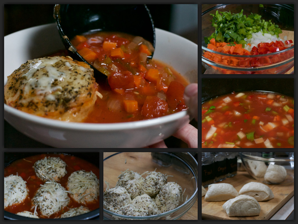 Tomato French Bread Soup Collage