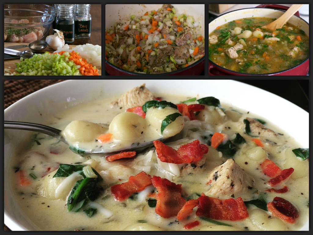 Chicken Gnocchi Soup Collage