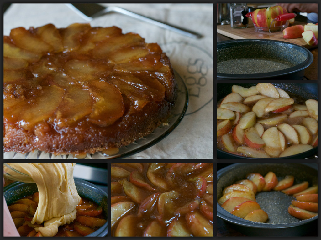 French Apple Cake Collage