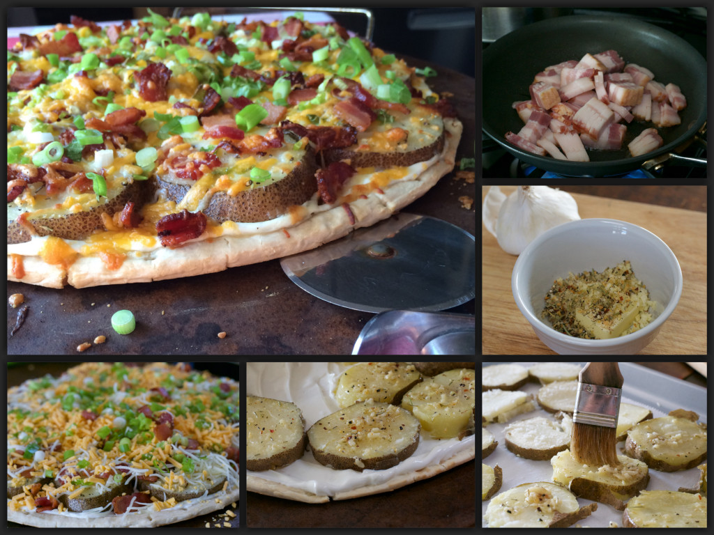 Potato Skin Pizza Collage