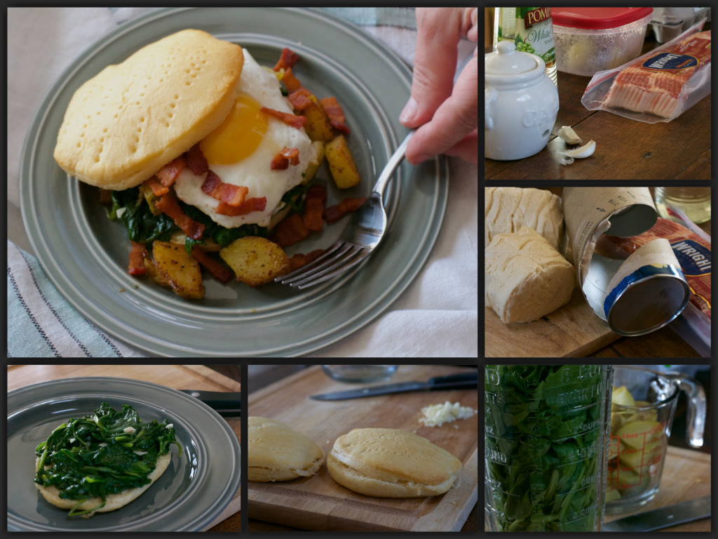 Rustic Biscuit Breakfast Collage