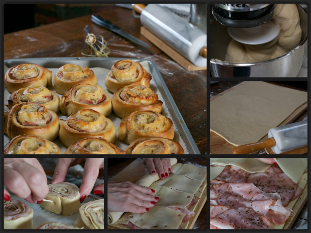 Pretzel Cheesy Ham Wheels