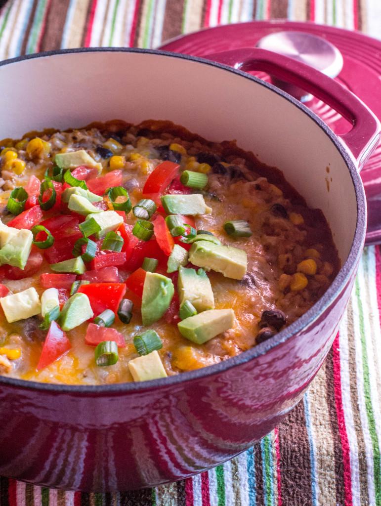 Farro Enchilada Casserole