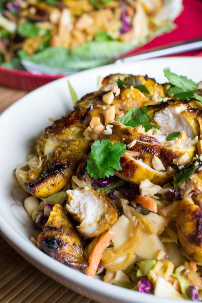 Chicken Satay Spaghetti Squash Salad