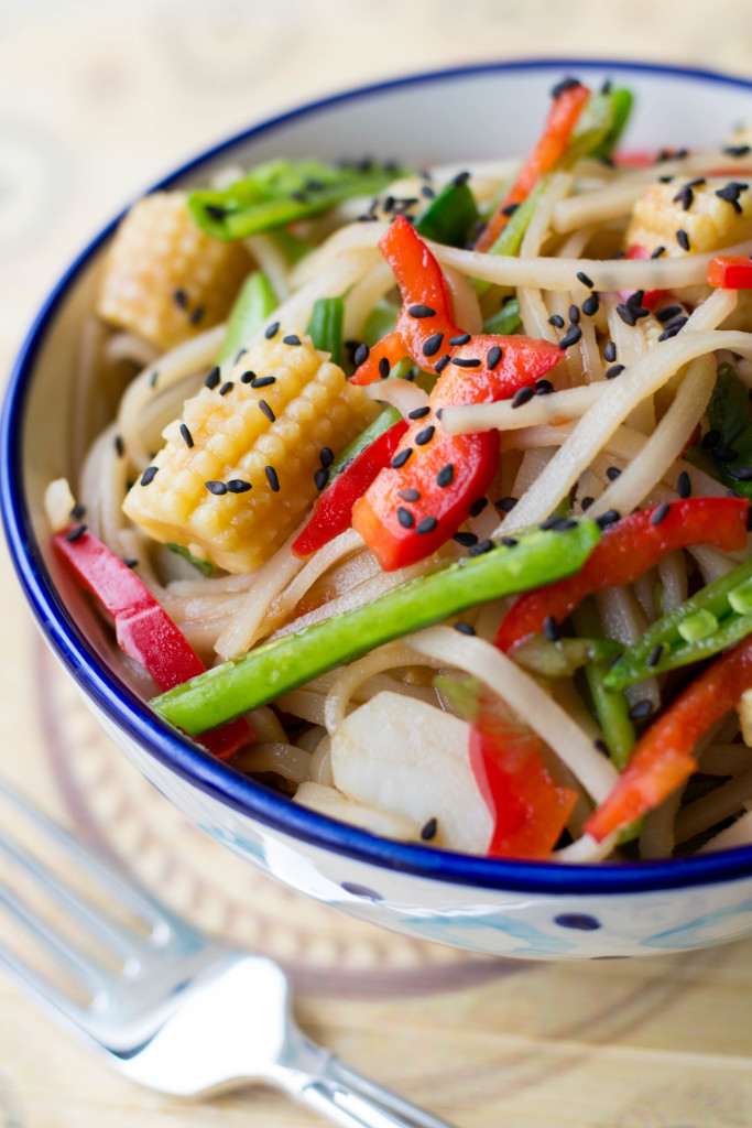 Asian Veggie Noodle Bowl