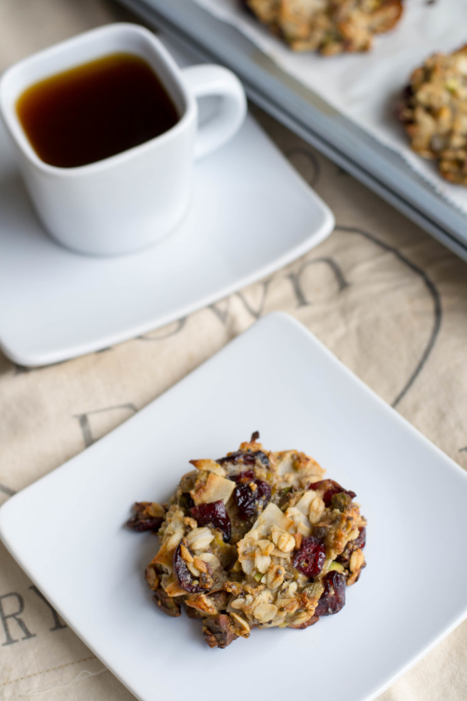 Cranberry Pistachio Breakfast Cookies