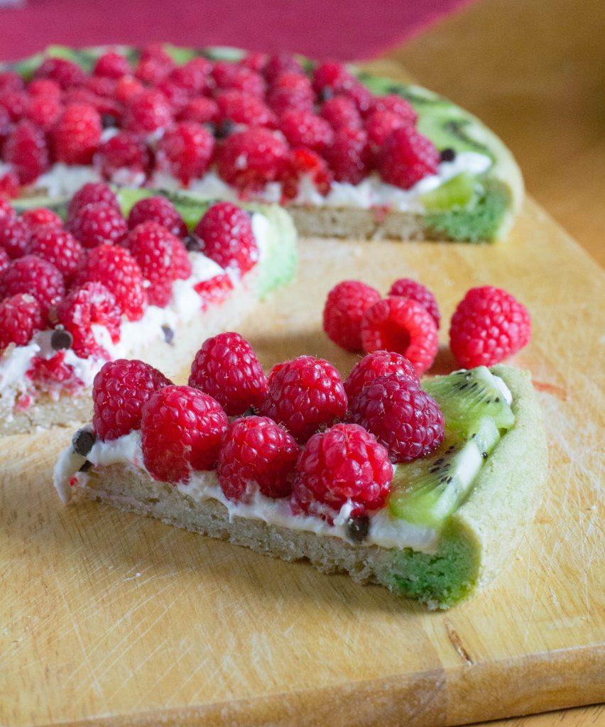 Raspberry Kiwi Fruit Cookie