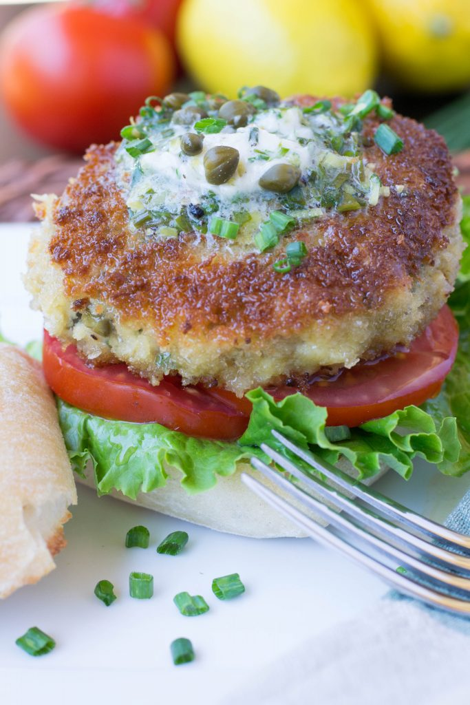 Chicken Piccata Burger