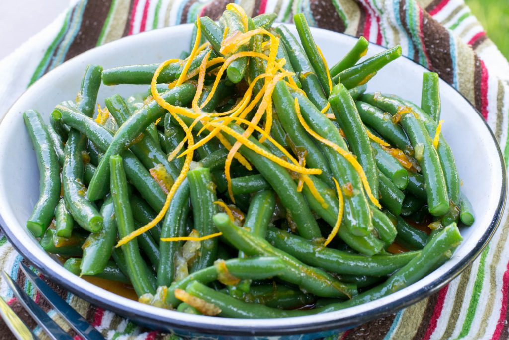Sriracha Orange Glazed Green Beans