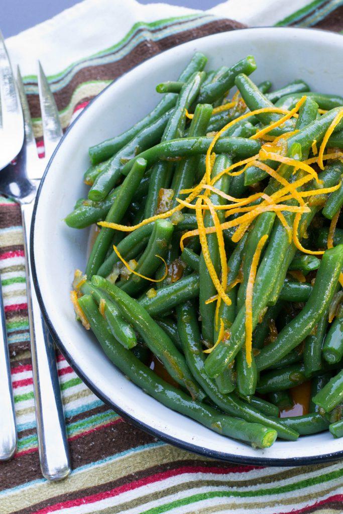 Sriracha Orange Glazed Green Beans