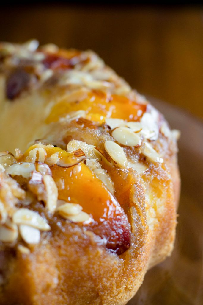 Peach Almond Upside Down Cake 9