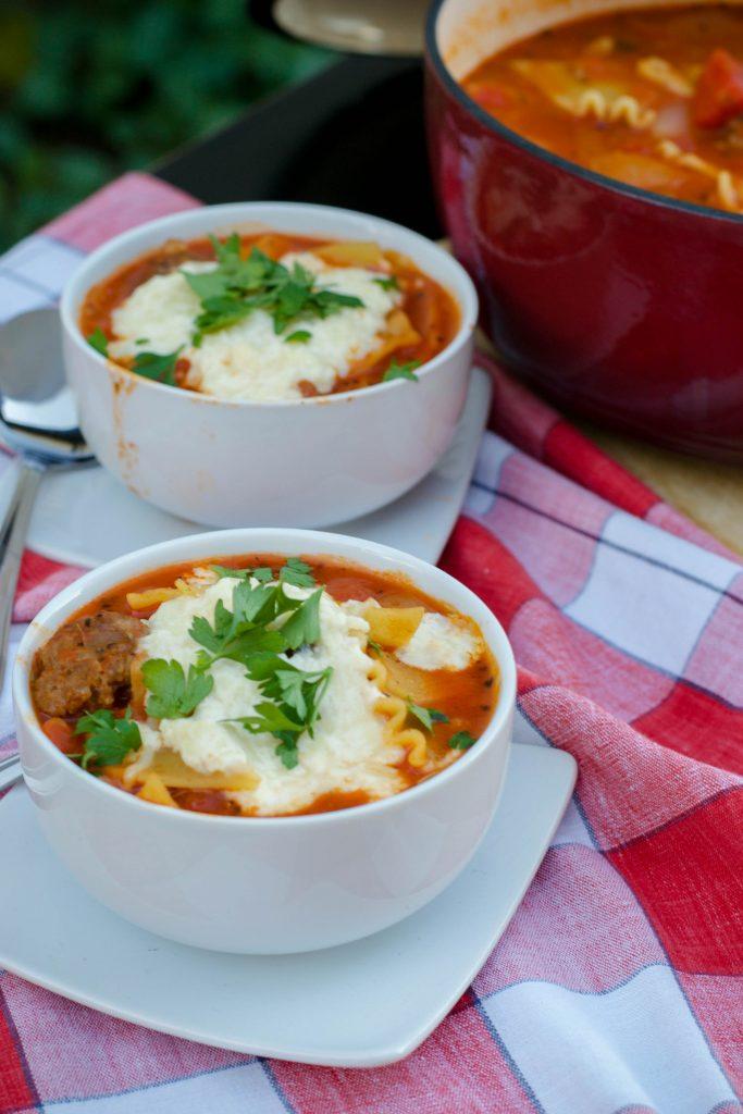 Sausage Lasagna Soup 1