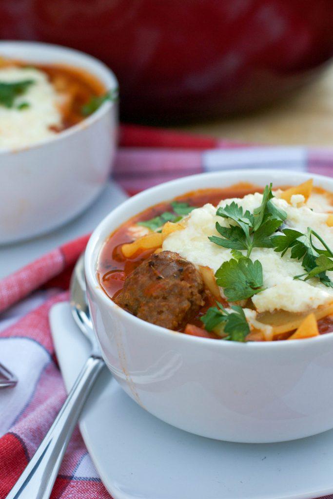 Sausage Lasagna Soup 4