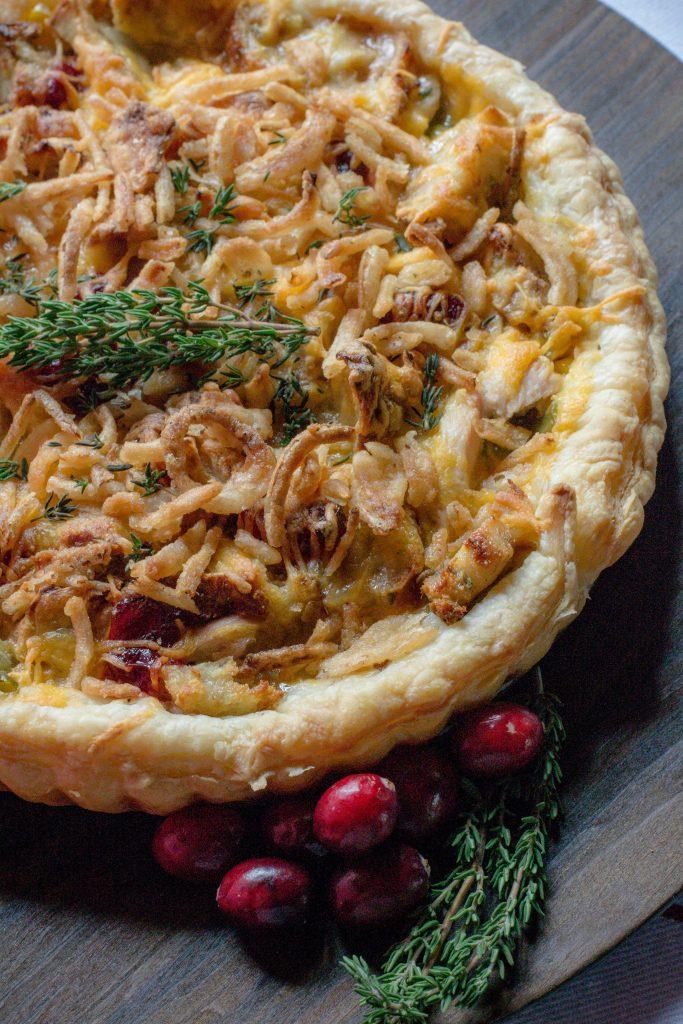 Leftovers Turkey Tart