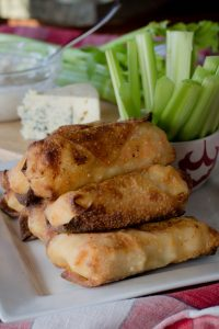 Air Fryer Buffalo Shrimp Egg Rolls