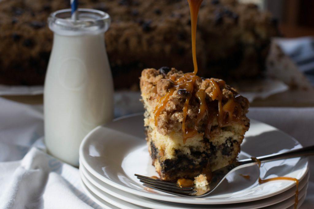 Caramel Pecan Streusel Coffee Cake