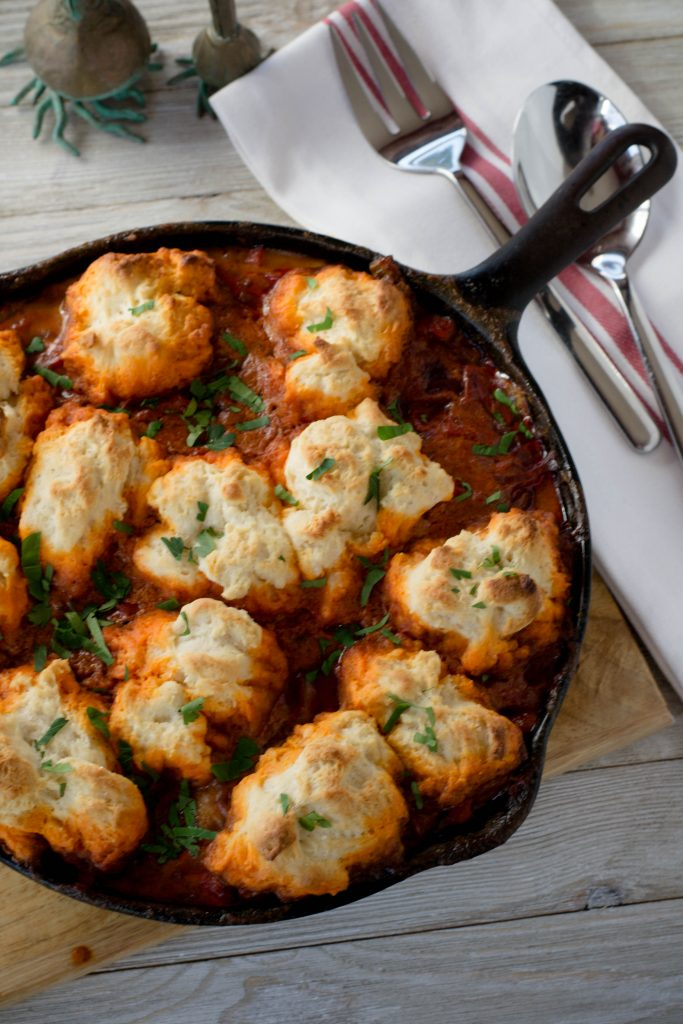 Chicken Goulash with Buttermilk Dumplings