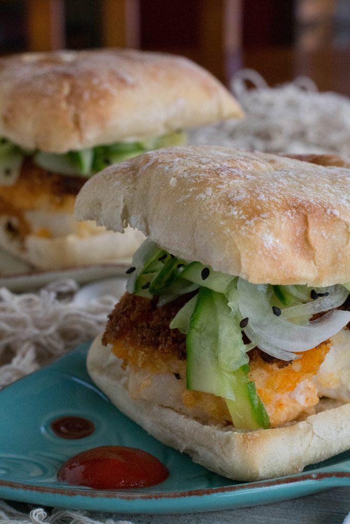 Spicy Sriracha Crusted Fish Sandwich