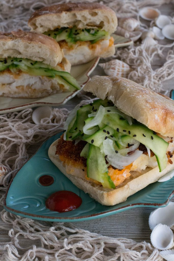 Spicy Sriracha Crusted Fish Sandwich
