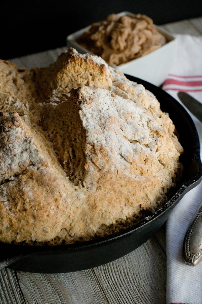 Brown Irish Soda Bread with Honey Butter