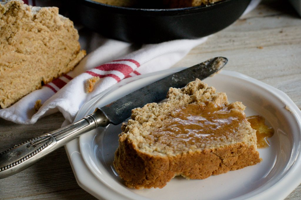 Brown Irish Soda Bread with Honey Butter