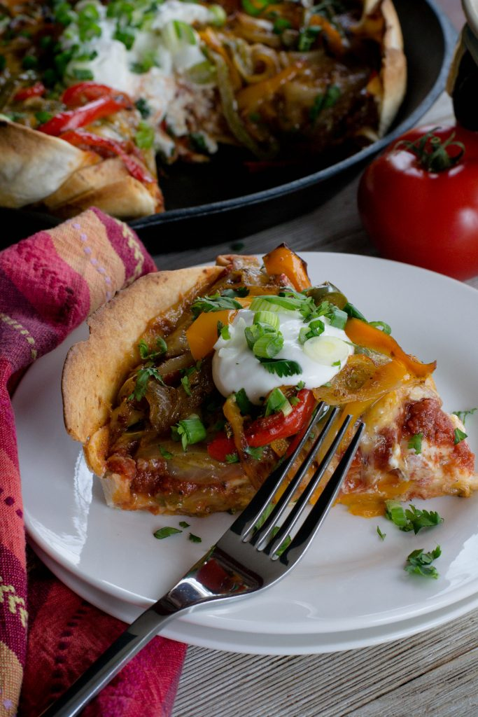 Deep Dish Fajita Pizza