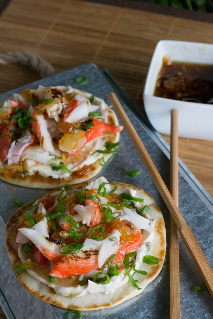 Mini Crab Rangoon Tostadas