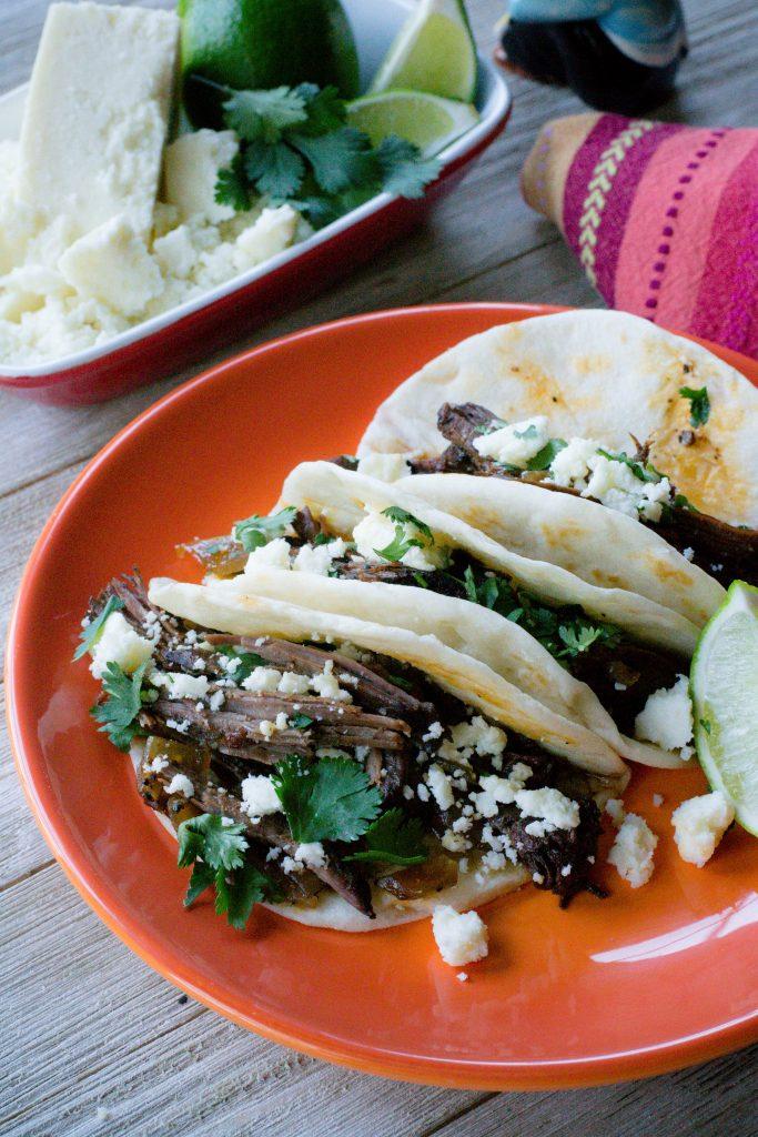 Crock Pot Street Beef Tacos