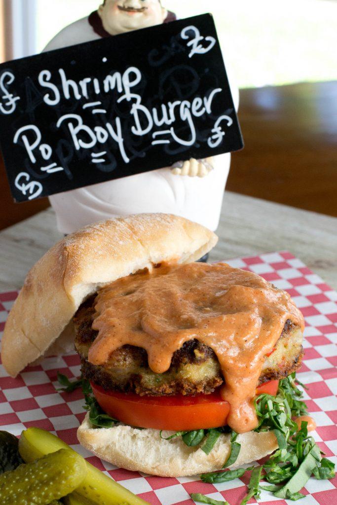 Shrimp Po Boy Burger