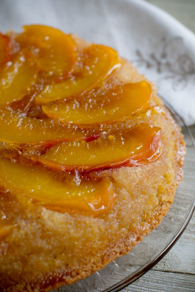 French Peach Cake