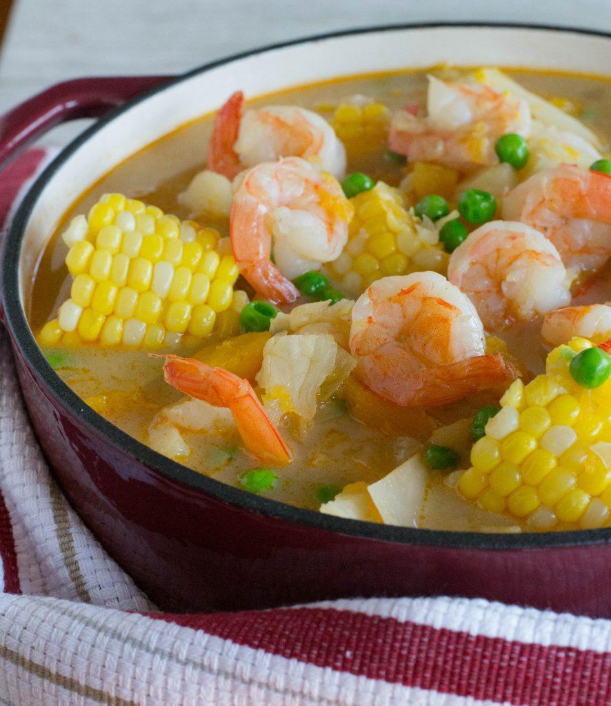 Shrimp Corn Veggie Chowder