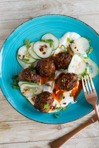Chile-Cumin Lamb Meatballs