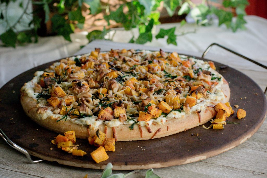 Roasted Butternut Squash Pizza with Balsamic Glaze