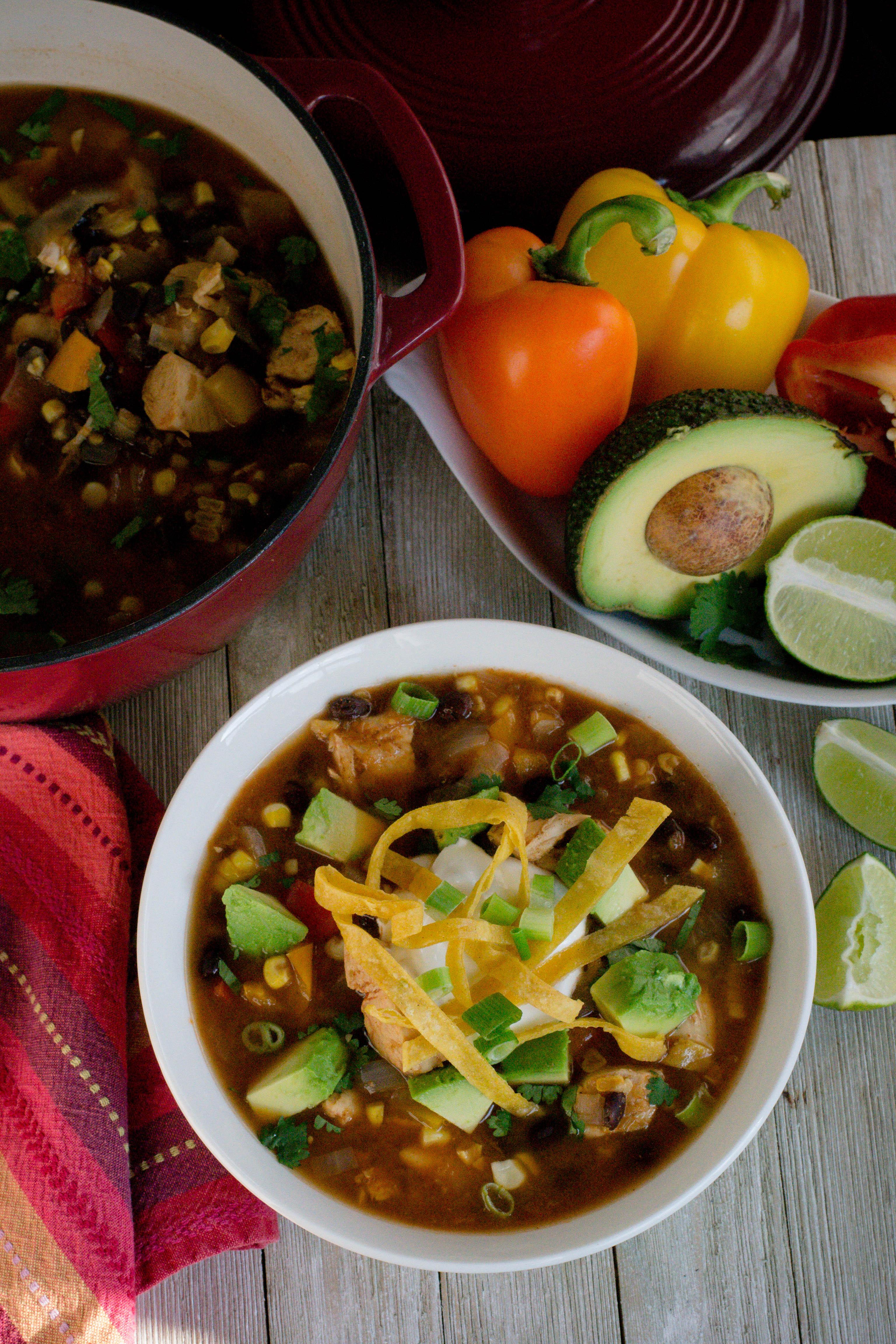 Insta Pot Salsa Verde Chicken Tortilla Soup What The Forks For Dinner