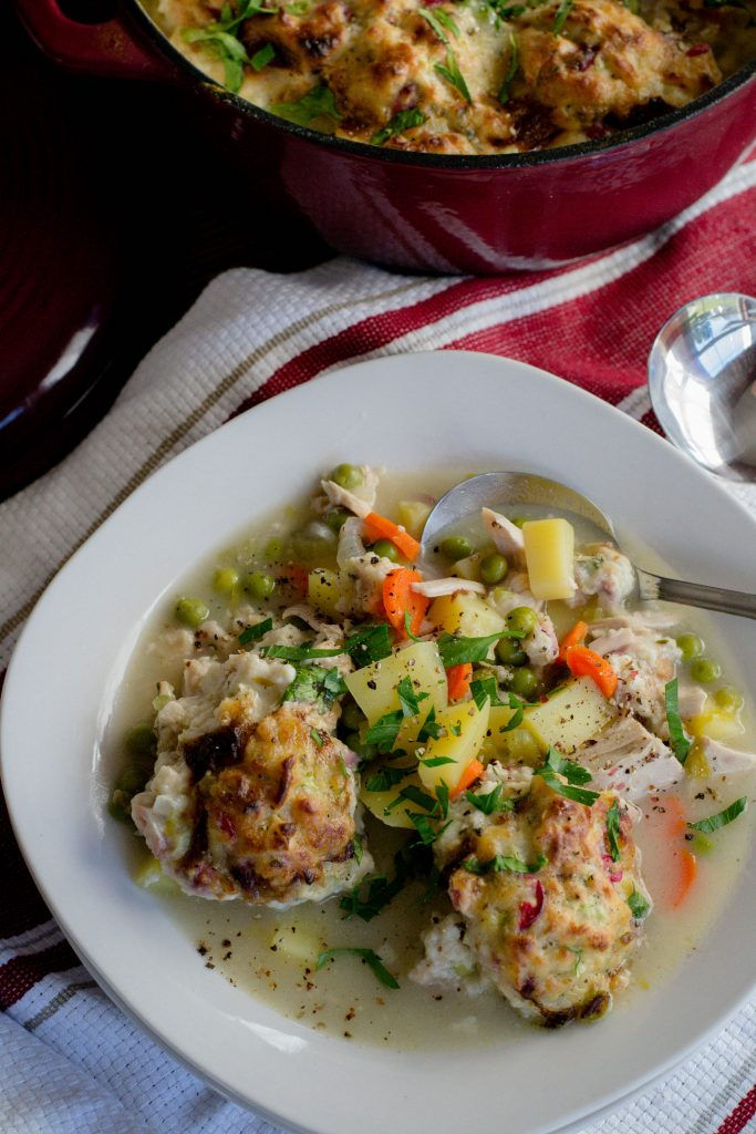 Turkey and Cranberry Herb Dumplings