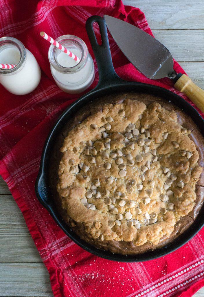 Salted Caramel Cookie Brownie Skillet