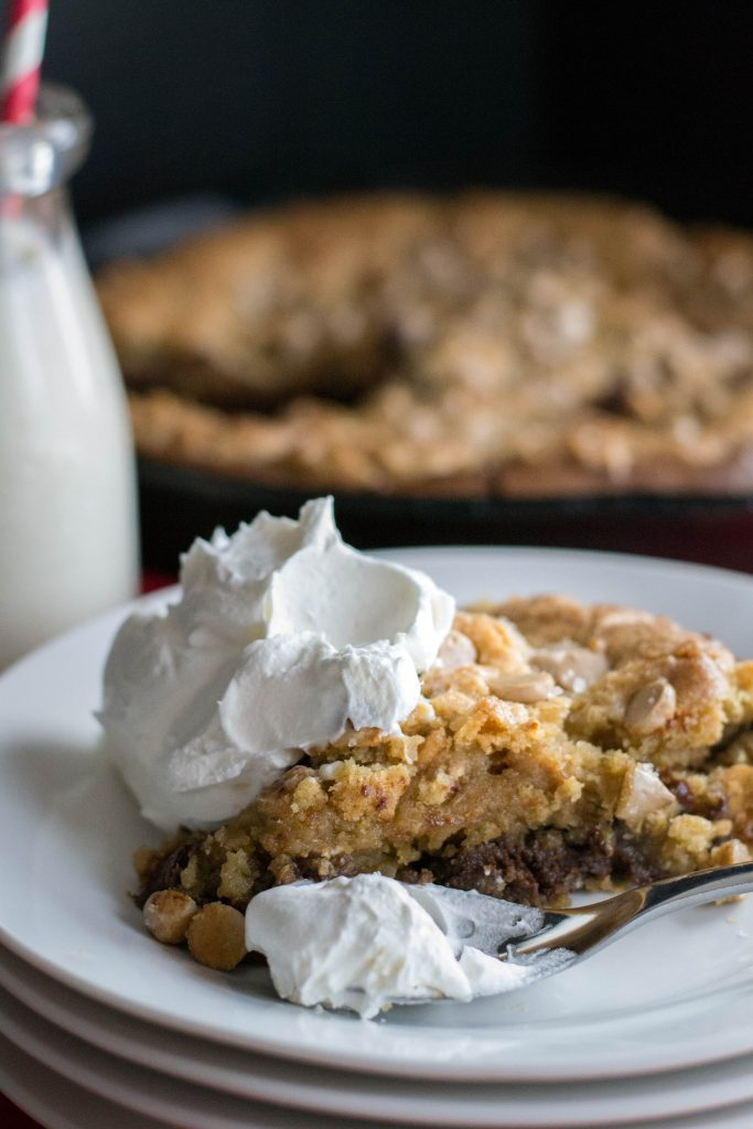Salted Caramel Cookie Brownie Skillet