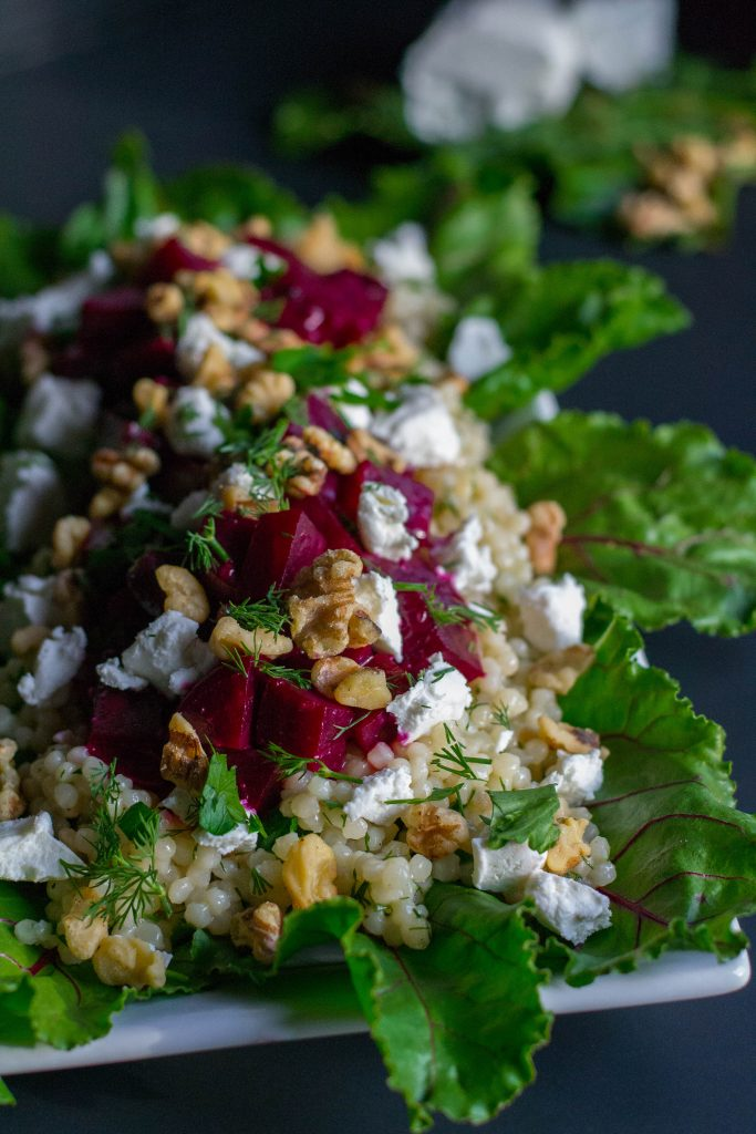 Roasted Beet Couscous Citrus Salad