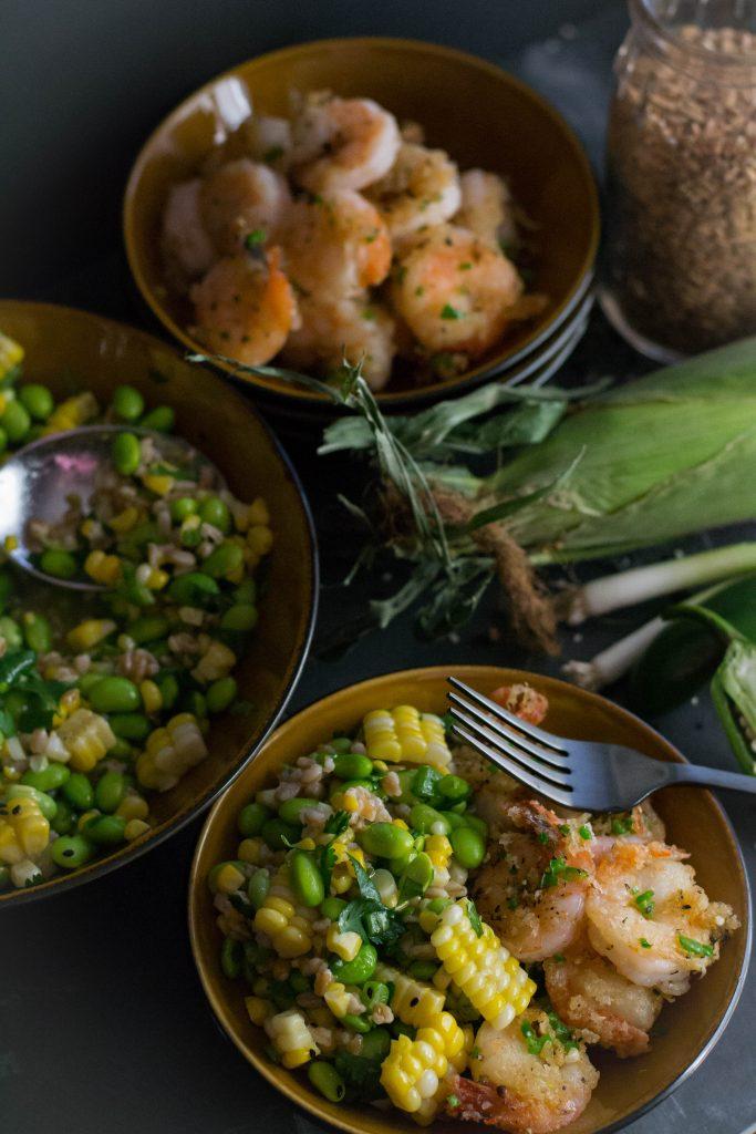Salt and Pepper Shrimp Edamame Salad