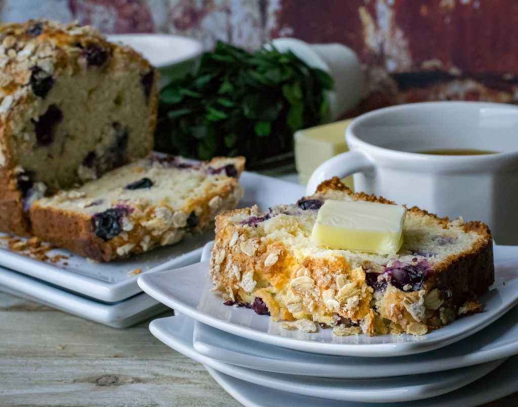 One Bowl Blueberry Breakfast Bread