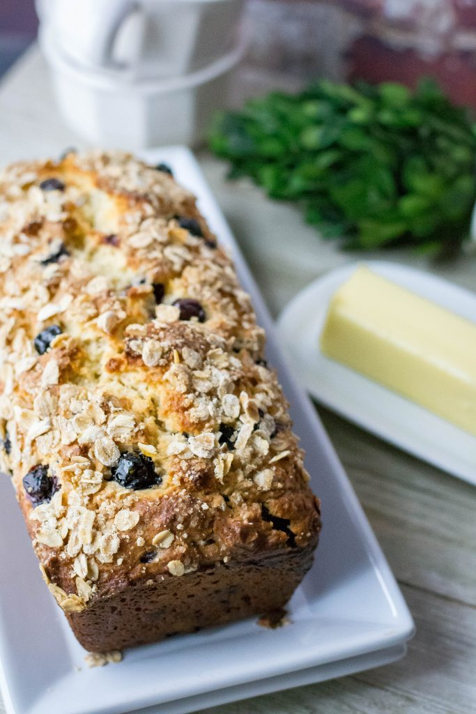 One Bowl Blueberry Breakfast Bread