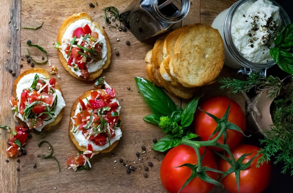 Cauliflower Spread Bruschetta