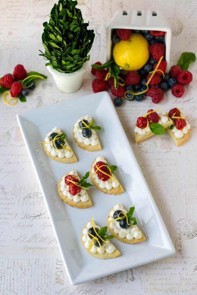 Lemon Cream Cheese Fruit Cookies