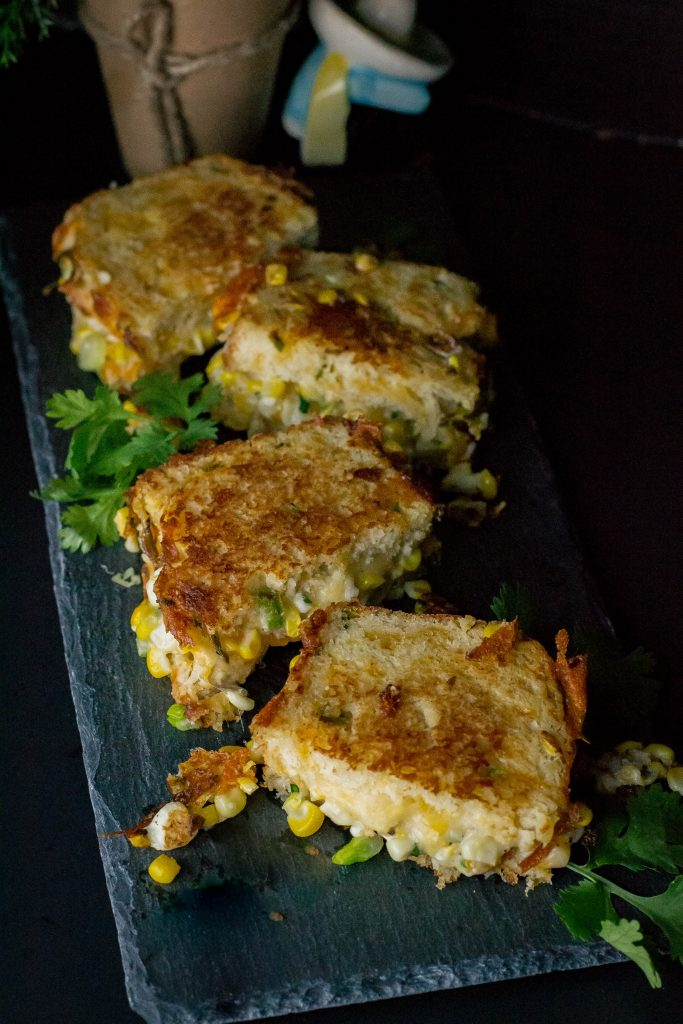 Jalapeño Street Corn Grilled Cheese