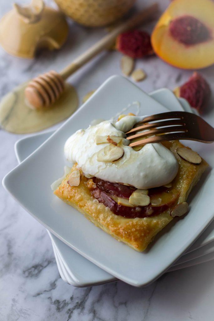 Easy Almond Peach Tartlets